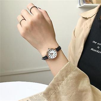 Retro Vintage Frauen Uhren Qualitäten kleine Damen Armbanduhren Leder