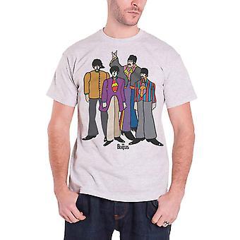 Beatles T paita keltainen sukellusvene sarjakuva yhtyeen Logo virallisen miesten uusi harmaa