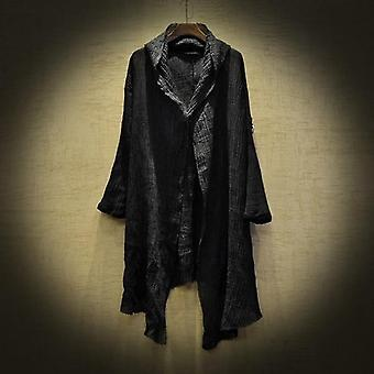 Linge Thin Trench Men Gothic Long Coat, Veste Stranger