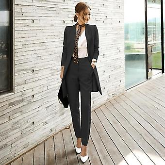 Autumn-winter, Two-piece, Slim Long Suit Jacket + Slim Trousers's
