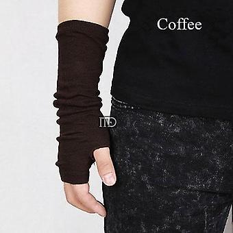Black Punk Unisex Long Fingerless Gloves, Cuff Ninja Sport, Outdoor, Elbow