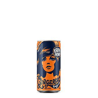 Karma drinks (gingerella ginger ale, 250ml can) organic, fairtrade, award winning & ethical. 24 cans