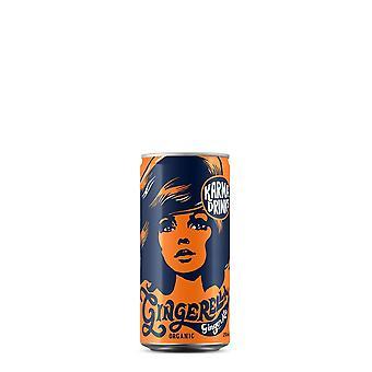 Karma dranken (gingerella ginger ale, 250ml blikje) biologisch, fairtrade, award winning & ethical. 24 blikjes