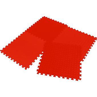 Rompecabezas estera Eva 60x60x1.2cm set 4 piezas Rojo Enero