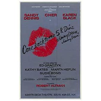 Komme tilbake til 5 krone Jimmy Dean Jim filmen plakaten (11 x 17)