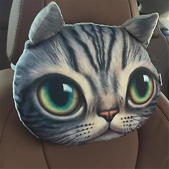 3d Printed Dog Cat Face Car Neck & Head Rest Auto Safety Cushion/ Support