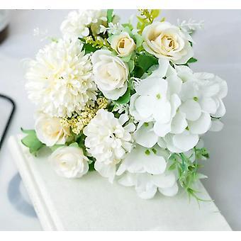 Sztuczny jedwab róża piwonia kwiat panna młoda bukiet bukiet ślub
