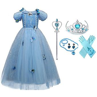 Princess Costume Short-Sleeved Dress And Accessories
