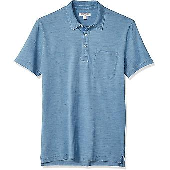 Marchio - Goodthreads Men's Indigo Polo, Light Indigo Wash Large