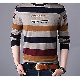 Pullover stickad skjorta