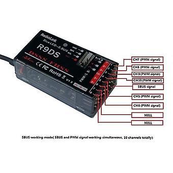 Original Radiolink R9ds 2.4g 9ch Dsss Receiver For Radiolink At9 At10