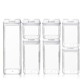 Pote selado da cozinha transparente de plástico fácil