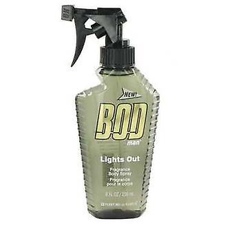 Bod Man Lights Out par Parfums De Coeur Body Spray 8 Oz (hommes) V728-500718