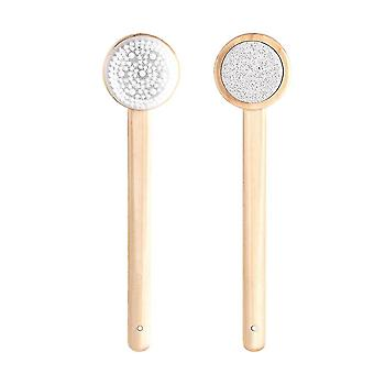 Body bath double-side bath shower rubbing brush - scrubber skin natural bristle silicone massage