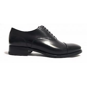 Men's Shoes Harris Anniversary Francesina Dot Black Leather Handmade Us14ha02