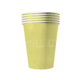 20 Amerikaanse bekers recyclebaar geel pastel 53 cl
