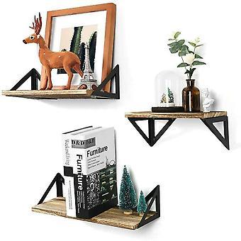UNHO Wandregal Schweberegal Hngeregal Wandboards Landhausstil CD Dekorative Regale aus Holz fr
