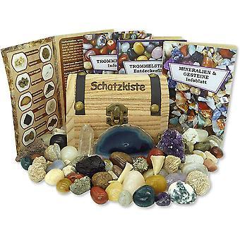 Schatzkiste gefllt mit Mineralien, Edelsteinen und Fossilien und vielen weiteren Schtzen der Natur!