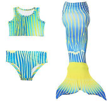 Swimsuit    mermaid swimwear new  mermaid children's bikini baby  girl