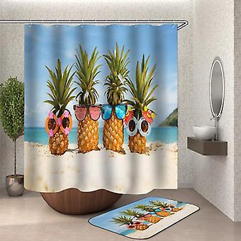 Aurinko lasit ananakset rannalla suihku verho