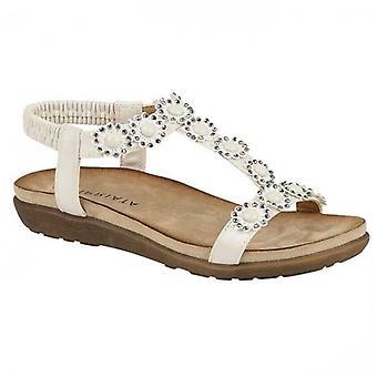 Cipriata Giovanna Ladies Ankle Strap Sandals White