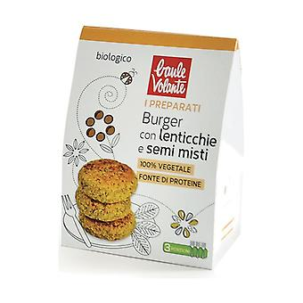 Prepared for burgers with lentils and mixed seeds 180 g