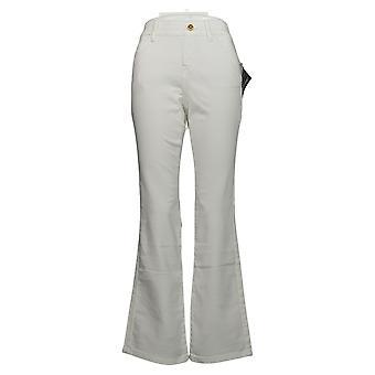 IMAN Global Chic Women's Jeans Denim Pull-On Bootcut White 734928100
