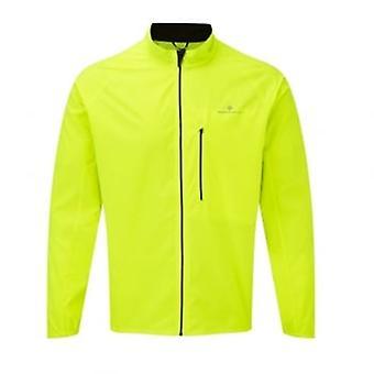 Ronhill mannen dagelijks lopende jas fluo geel