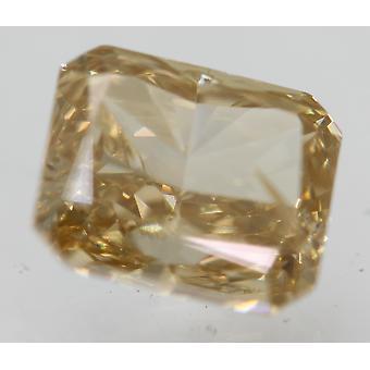 Varmenne 1,12 karat orangy keltainen ruskea VS2 säteilevä luonnollinen timantti 6.04x5.02mm 2EX