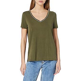 Sólo ONLFREE Life S/S V-Neck Chain Camiseta Jrs, Kalamata, XL Mujer