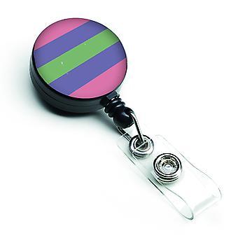 Carolines Treasures  CK8007BR Trigender Pride Retractable Badge Reel