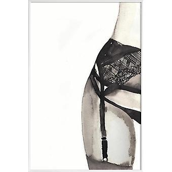 JUNIQE Print -  Halfway to Eight Points - Erotisch Poster in Grau & Schwarz