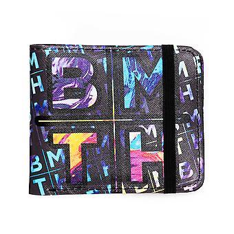 Rock Sax Bring Me The Horizon Wallet Mens   Band Logo Black Bifoldable Purse   Music Festivals Merchandise   One Size