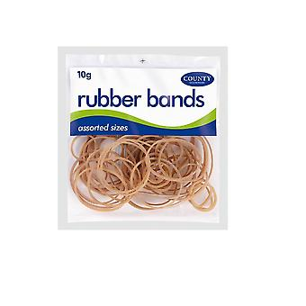 County Stationery Natural Rubber Bands (Pack of 36)