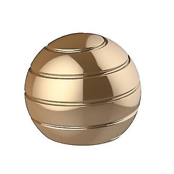 Golden fully disassembled rotating desktop ball transfer top fingertip decompression toy x1961