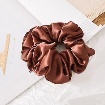 silke scrunchie elastisk håndlaget flerfarget hårbånd hestehale holder hodebånd