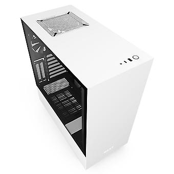 NZXT H510i Midi Tower RGB Gaming Case - White Tempered Glass
