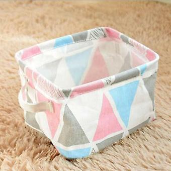 (Colourful) Foldable Square Oxfords Canvas Storage Collapsible Folding Box Fabric Toy Basket