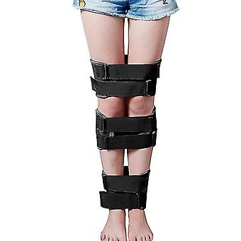 Leg Correction Belts Legs Straightener Straps Posture Corrector Band Professional(Black)