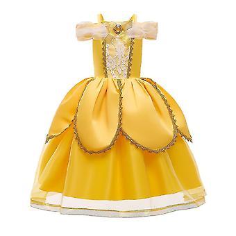 Julfest Fancy Costume Deluxe Princess Klä upp för flickor (120CM)