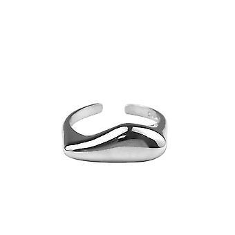 3PCS נחושת גיאומטרית פשוטה טבעת נקבה אופנה רטרו חלק חלק רומנטי יום הולדת מתנה זוג