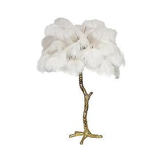 Moderne luxe struisvogel veer vloerlamp
