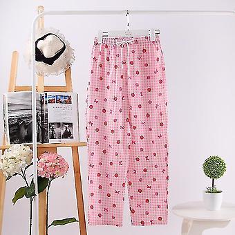 Gauze Cotton Bottoms Casual Pajamas Sleepwear Trousers