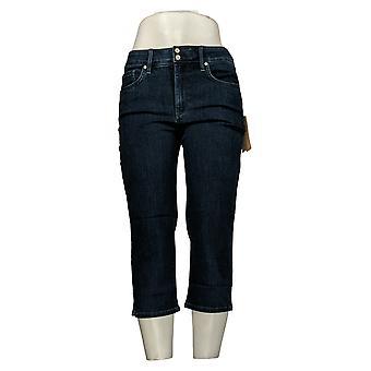 NYDJ Femme Femme Petite Skinny Crop Jeans w/Side Slits Bleu A377692