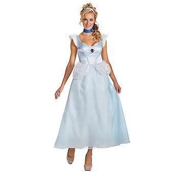 Cinderella Deluxe Classic Disney Princess Story Book Week Women Costume Plus