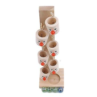 Wooden blocks creative wooden toys clown marbles table children's fun games clown educational toys|blocks