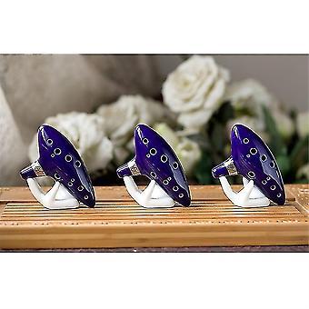 Acoustic guitar pickups 12 hole ocarina ceramic alto c legend of zelda ocarina flute blue instrument