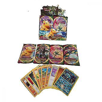 324pcs/セットポケモンカード:密封ブースターボックスコレクショントレーディングカードゲームのおもちゃ