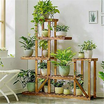 Multi Tier Tre Blomsterstativ Plant Stand Tre Hyller Bonsai Display Hylle Innendørs