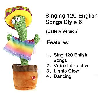 Electronic Cactus Plush Toys That Can Sing And Dance, Soft Cactus Figurines, Interactive Voice